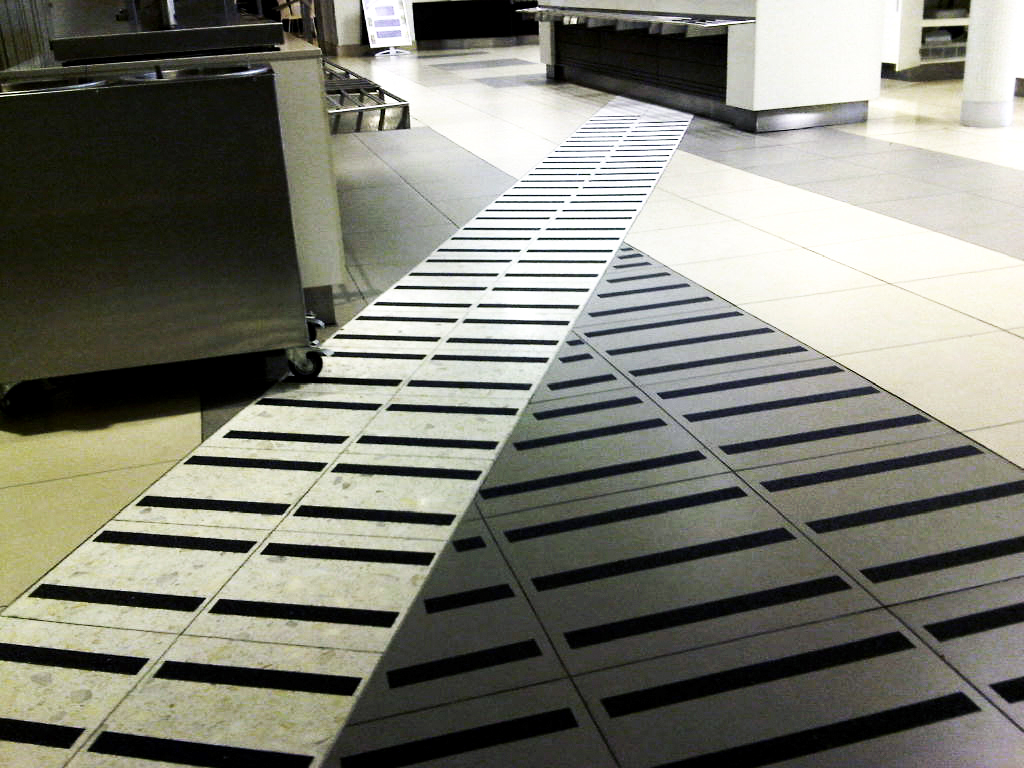 FibreGrip non-slip safety traction tape on tiled floor at FNB